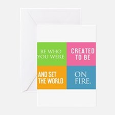 Be Who You Were Created To Be Greeting Cards