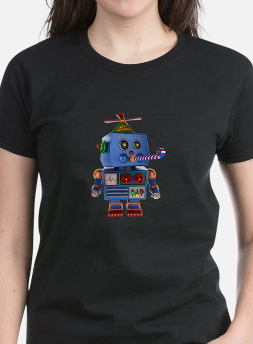 Blue birthday party toy robot T-Shirt