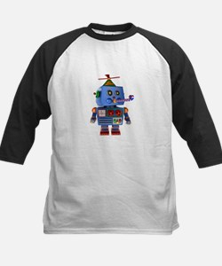 Blue birthday party toy robot Baseball Jersey