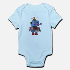 Blue birthday party toy robot Body Suit
