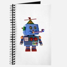 Blue birthday party toy robot Journal