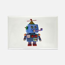 Blue birthday party toy robot Magnets