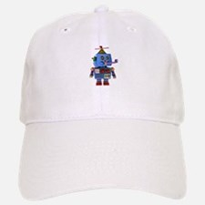 Blue birthday party toy robot Baseball Baseball Cap