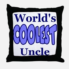 World's Coolest Uncle Throw Pillow