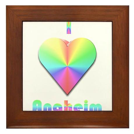 I Love Anaheim #1 Framed Tile