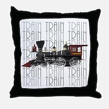 Train Lover Throw Pillow