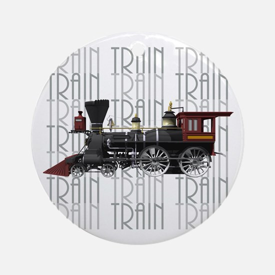 Train Lover Ornament (Round)
