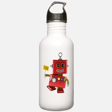 Dancing red toy robot Water Bottle
