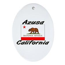 Azusa California Oval Ornament