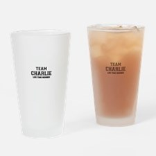 Team CHARLIE, life time member Drinking Glass