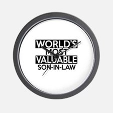 World's Most Valuable Son-in-law Wall Clock