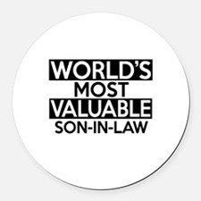 World's Most Valuable Son-in-law Round Car Magnet