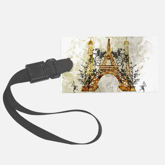 Awesome eiffeltower with roses Luggage Tag