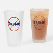 Anti Trump! No Trump Drinking Glass
