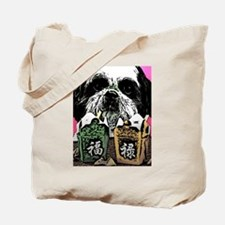 Shih Tzu with Chinese Food Tote Bag