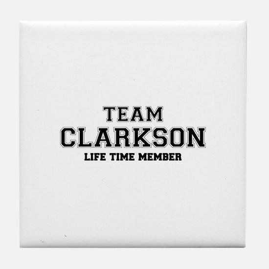 Team CLARKSON, life time member Tile Coaster