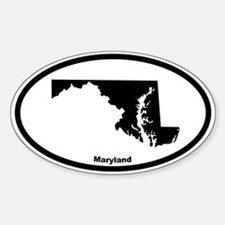 Maryland State Outline Oval Decal