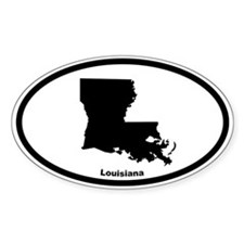 Louisiana State Outline Oval Decal