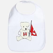 Cute Canadian Teddy Bear Bib