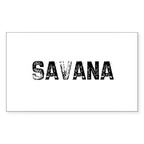 Savana Rectangle Sticker