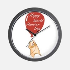 Happy World Hamster Day! 12th April Wall Clock