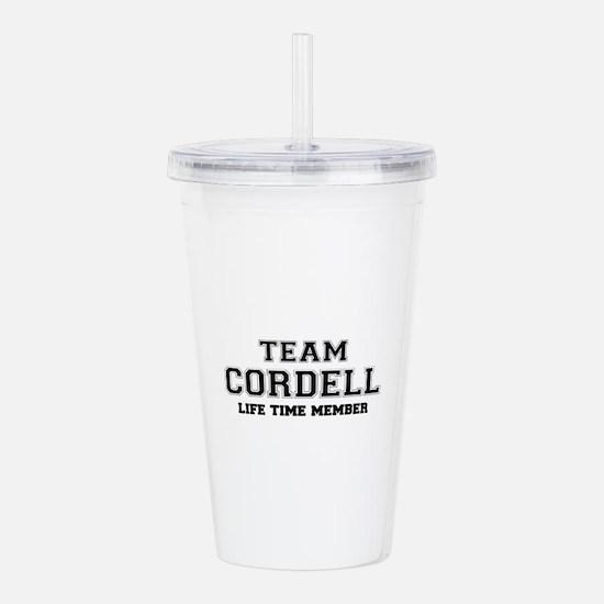 Team CORDELL, life tim Acrylic Double-wall Tumbler