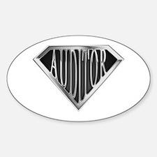 SuperAuditor(metal) Oval Decal