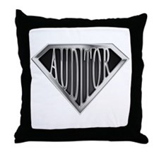 SuperAuditor(metal) Throw Pillow