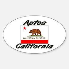 Aptos California Oval Decal