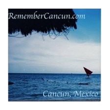 Remember Cancun Tile Coaster