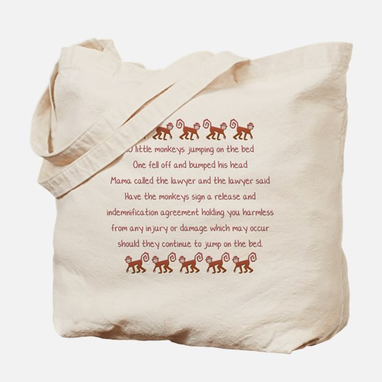 10 Little Monkeys Tote Bag