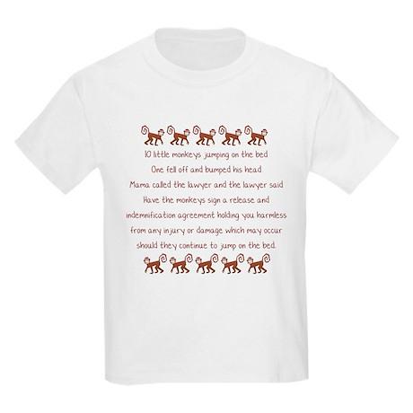 10 Little Monkeys Kids Light T-Shirt