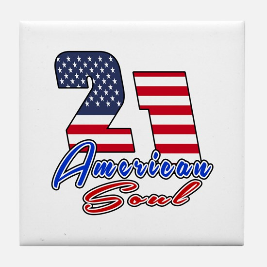 21 American Soul Birthday Designs Tile Coaster