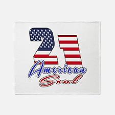 21 American Soul Birthday Designs Throw Blanket