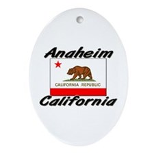 Anaheim California Oval Ornament