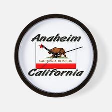 Anaheim California Wall Clock
