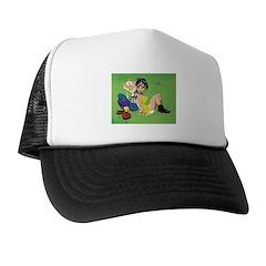 Jimmy & Sody, sitting; Trucker Hat