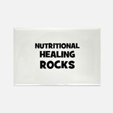 Nutritional Healing Rocks Rectangle Magnet