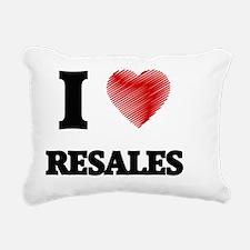 I Love Resales Rectangular Canvas Pillow