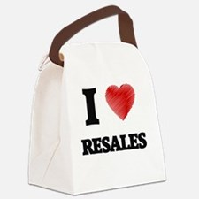 I Love Resales Canvas Lunch Bag