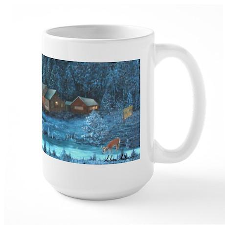 Lighter Buck at River's Edge Large Mug