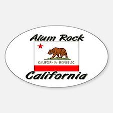 Alum Rock California Oval Decal
