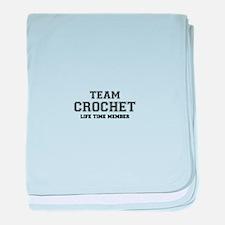 Team CROCHET, life time member baby blanket