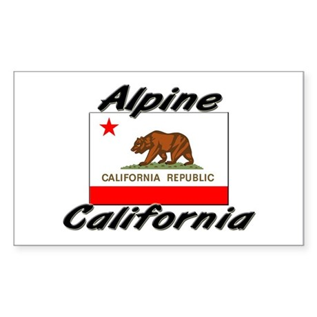 Alpine California Rectangle Sticker