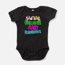 Unicorns Rainbow Cute Baby Bodysuit