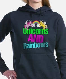 Unicorns Rainbow Cute Women's Hooded Sweatshirt
