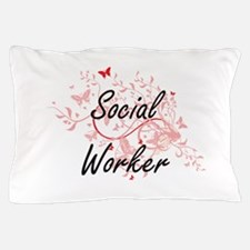 Social Worker Artistic Job Design with Pillow Case