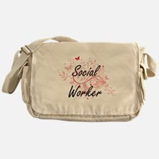 Social Worker Artistic Job Design wi Messenger Bag
