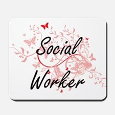 Social Worker Artistic Job Design with B Mousepad