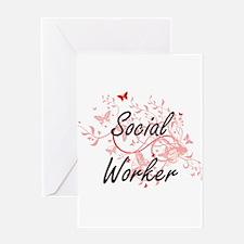 Social Worker Artistic Job Design w Greeting Cards